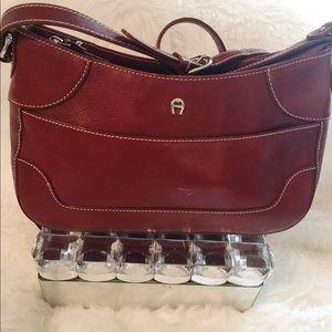 Etienne Aigner genuine leather shoulder bag12X8